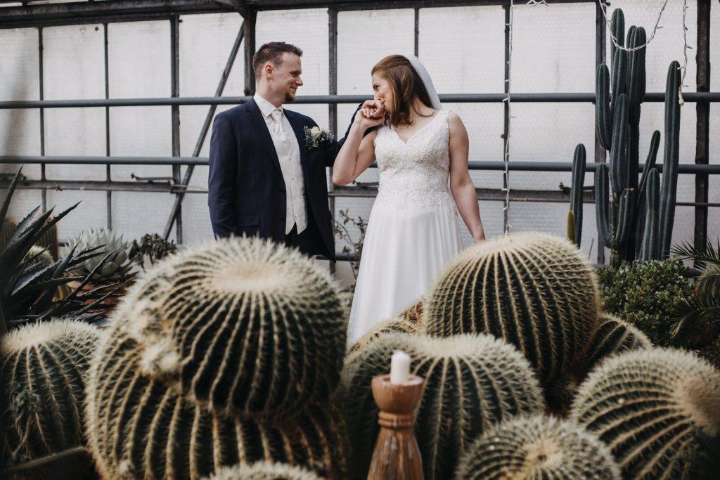 Hochzeit Stephanie und Claudius in Filderstadt und im Biodom Esslingen