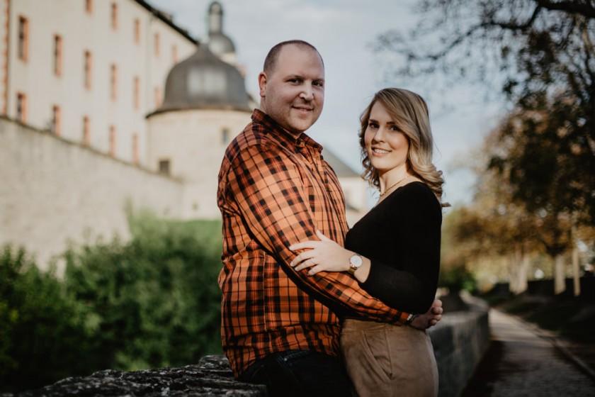 Engagement Fotoshooing in Würzburg auf der Festung Marienberg