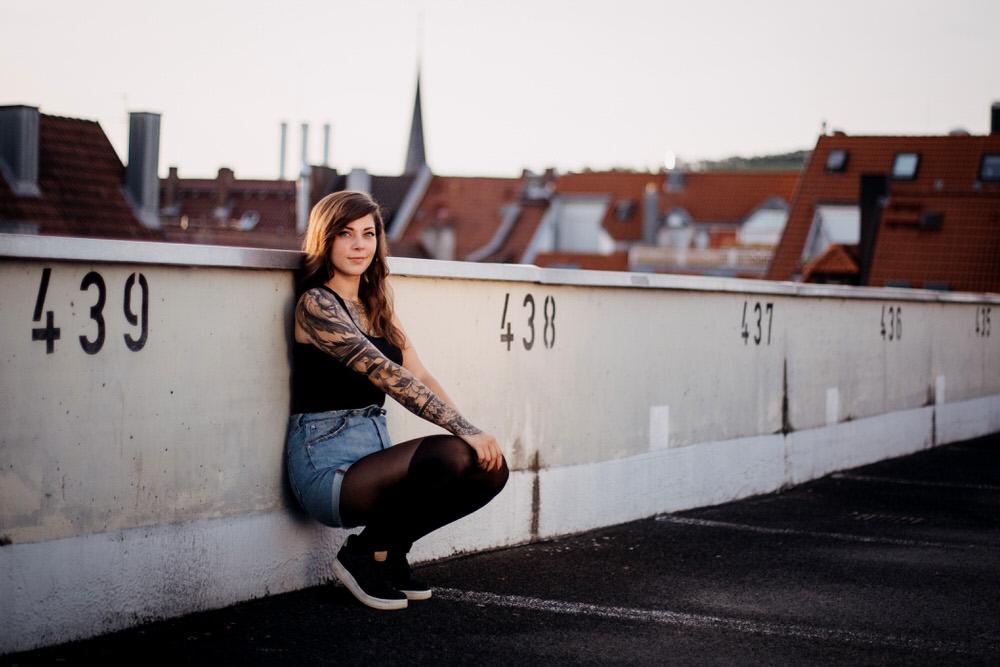Portrait Fotoshooting in Würzburg im Sonnenuntergang